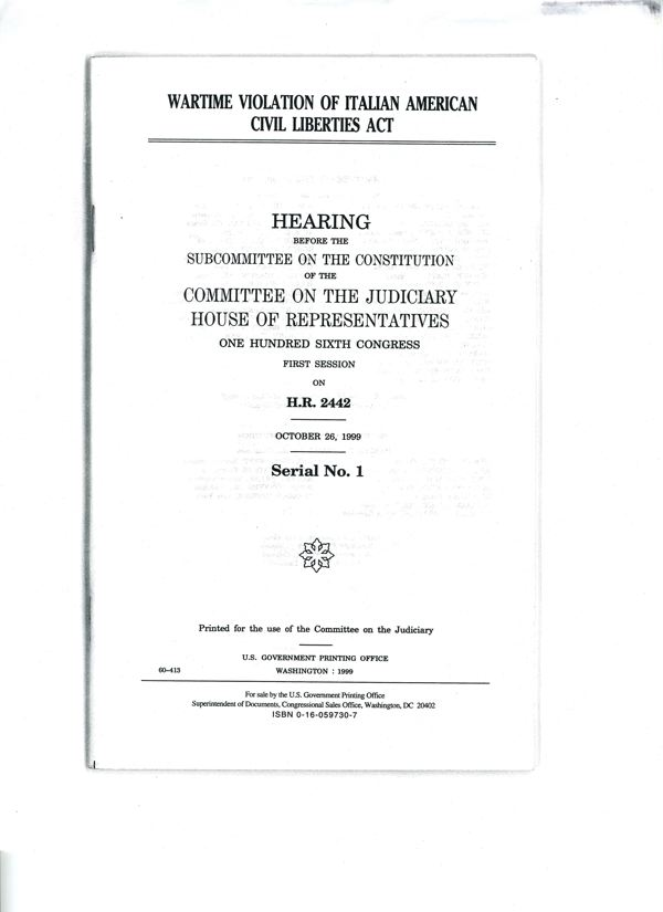 HR 2442 Congressional hearings booklet